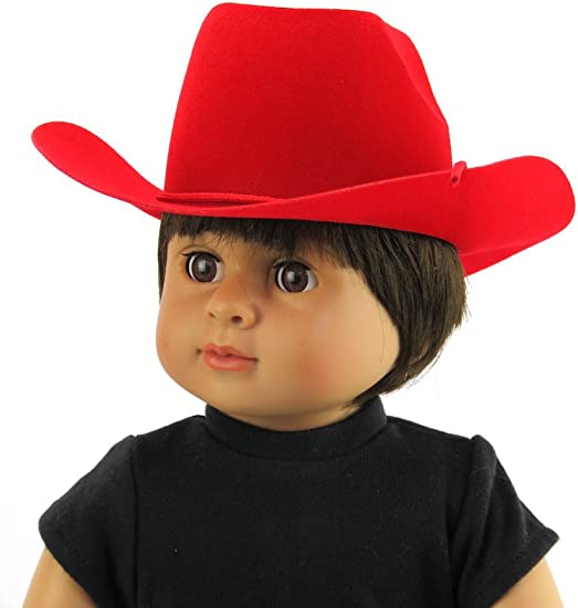 """Doll Clothes AG 18/"""" Western Cowgirl Hat Hot Pink Fits American Girl Dolls"""