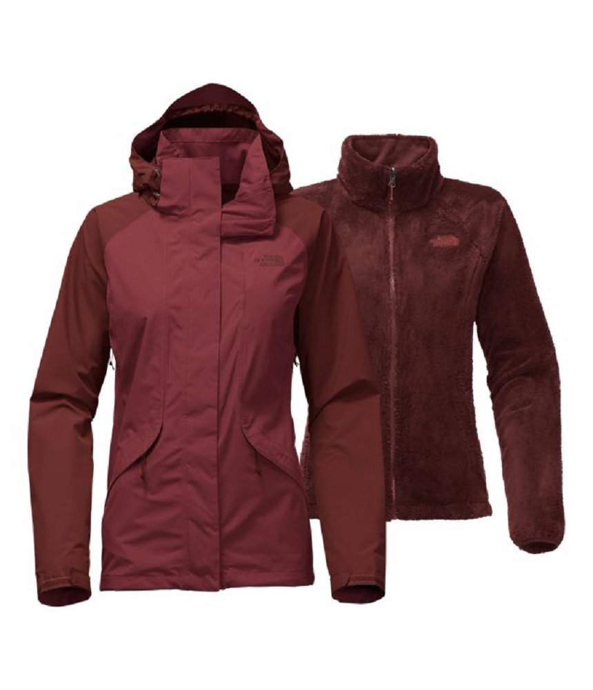 The North Face Women's Boundary Triclimate Jacket Barolo Red/Sequoia Red (Large)