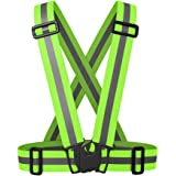 NKTM Reflective Vest Safety Gear HIGH VISIBILITY GREAT FIT For Running Jogging Cycling Walking In Early Morning and Night (Unisex)