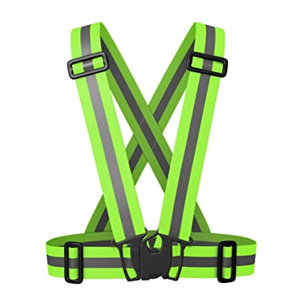 Unisex Multipurpose Cycle Visibility Reflection Led Flash Bike Vest Adjustable Running Cycling Reflective Safety Vest Hiking Vests Hiking Clothings
