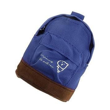 b0a776244def MagiDeal 1 6 Scale Dark Blue Backpack Shoulder Bag Dolls House Miniature  Accessory