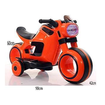 DDCX La Motocicleta eléctrica para niños de la Moda Espacial de Cuatro Ruedas y Doble tracción con música Flash para bebés Puede Sentarse en el Carro de la ...