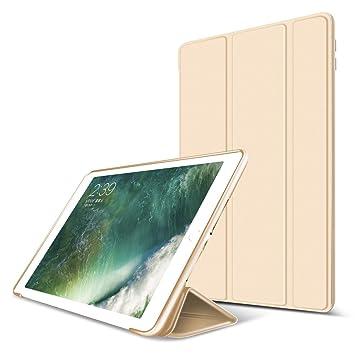 Nuevo iPad 2018/2017 9.7 Funda, GOOJODOQ Ligero Smart Case Cover con Magnetic Auto Sleep/Wake Función Piel Sintética a Prueba de Golpes Suave Silicona ...