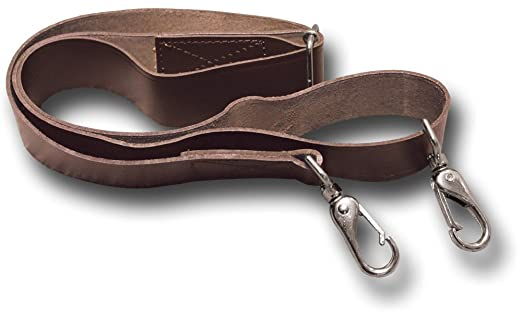 Replacement Leather Shoulder Bag Strap, Spring Clips, Brown, 38mm ...