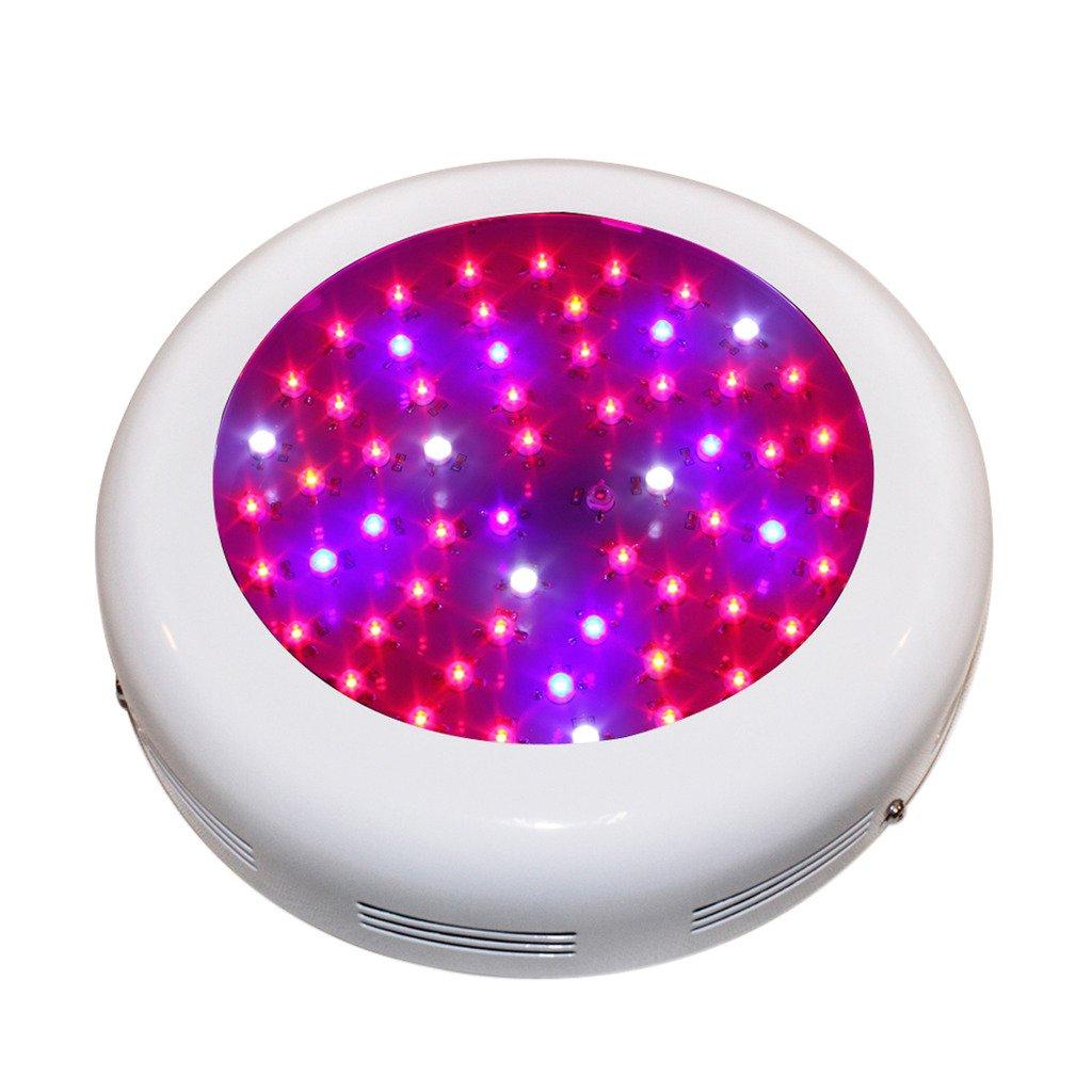 Pflanzenleuchte 180W, BLOOMWIN UFO LED Pflanzenlampe, Full Spectrum, für Pflanzenwachstum Zimmerpflanzen Blumen Gemüse, 9 Bands 60*3W UV IR