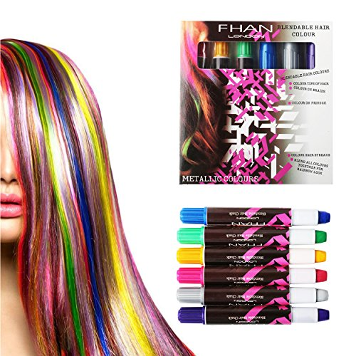 Hip Mall Hair Chalk Pens 6 Colors Temporary