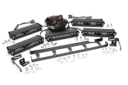 Amazon rough country 70644 8 inch black series vertical led rough country 70644 8 inch black series vertical led light bar grille kit aloadofball Choice Image