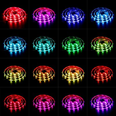 Alexfirst Strip Light, 2M/6Ft 60Leds Waterproof SMD 5050RGB LED Flexible Light Rope, Multi-colors, Indoor/Outdoor Use, Ideal for Christmas, Halloween and Party, Working with Alexa