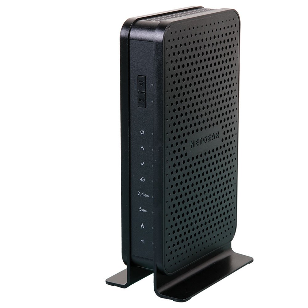 NETGEAR C3700-100NAR C3700-NAR DOCSIS 3.0 WiFi Cable Modem Router with N600 8x4 Download speeds for Xfinity from Comcast, Spectrum, Cox, Cablevision (Renewed) by NETGEAR