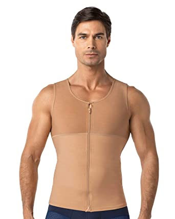 69048d1645747 Amazon.com  Leo Men s Abs Slimming Body Shaper with Back Support ...