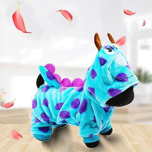 Ropa para mascotas, disfraz de gato de franela con diseño de ...