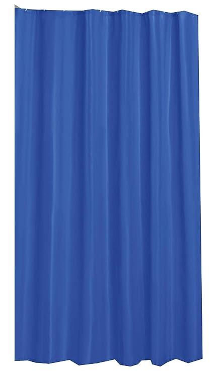 Amazon PLAIN ROYAL BLUE SHOWER CURTAIN 180CM X WITH HOOKS Everything Else