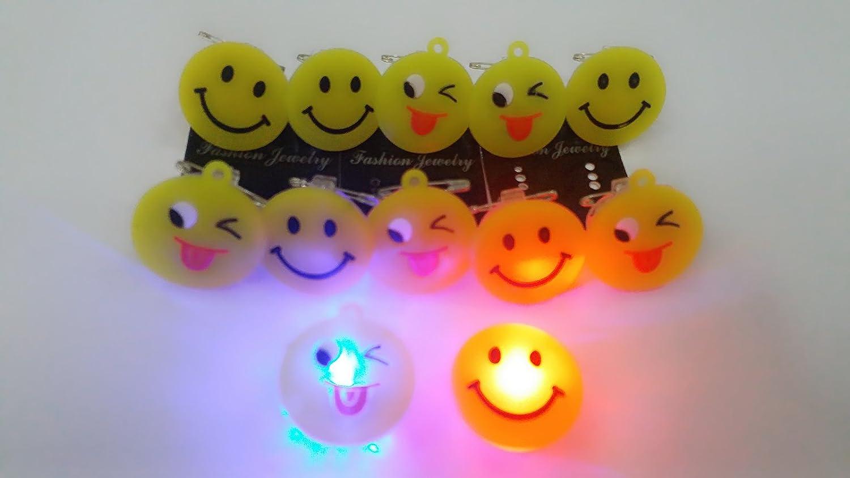 Jiada Kids Soft Rubber Smiley Led Badges