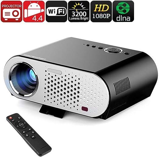 Mengen88 Proyector de vídeo HD, 3200 lúmenes LED portátil WiFi ...