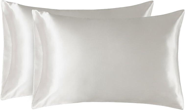 Bedroom Silk Satin Pillowcases Pillow Cushion Cover Smooth Soft Pillowcase H