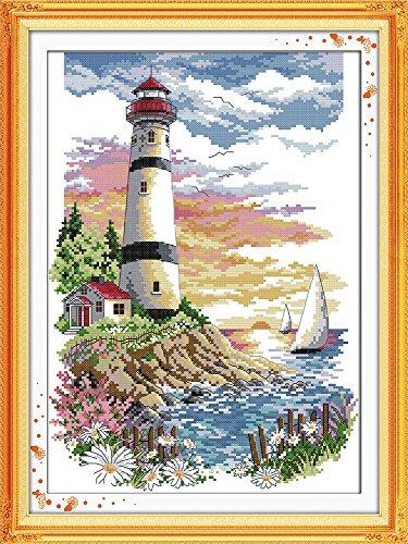 Astitch Stamped Cross Stitch Kits Lighthouse (Lighthouse Cross Stitch Pattern)