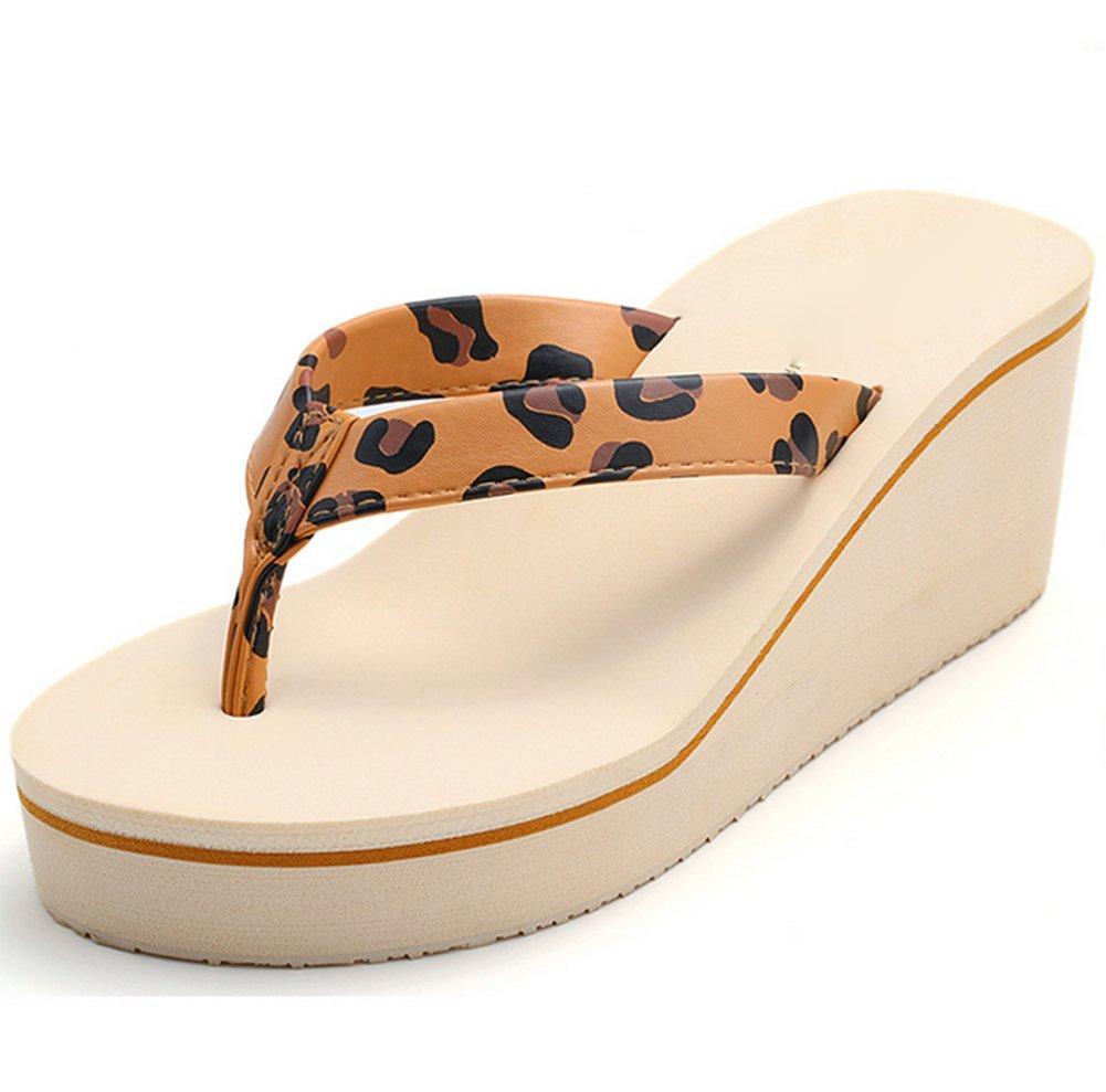 weiwei Damen Sommer High Heel Flip Flops,Strand Hausschuhe  Fu?l?nge=23.3CM(9.2Inch)|B
