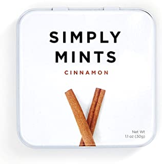 product image for Simply Mints | Natural Cinnamon Breath Mints | One Pack (45 Pieces Total) | Breath Freshening, Vegan, Non Gmo, Nothing Artificial