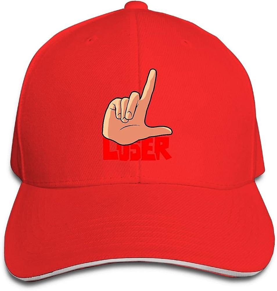 Unisex Sandwich Peaked Cap Loser Gesture Art Fun Adjustable Cotton Baseball Caps
