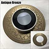 Nest Thermostat wall plate - India Style (2317) (Antique Bronze)