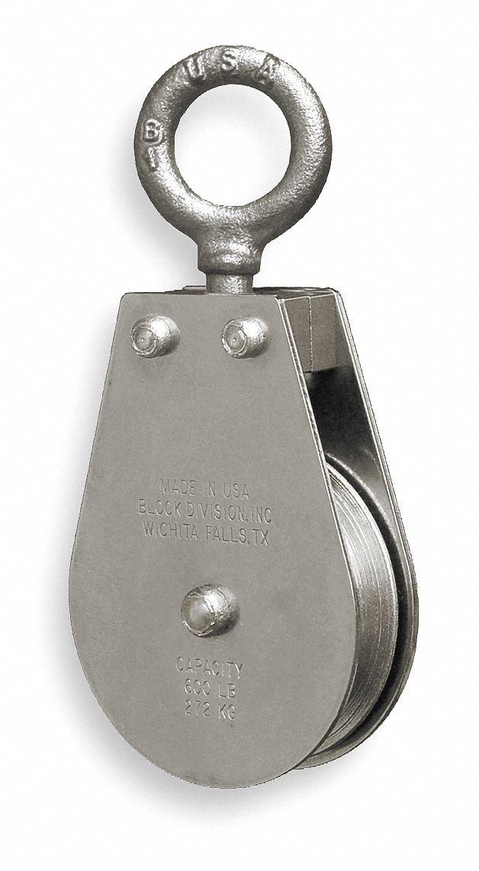 Pulley Block,Swivel Eye,1550 lb.