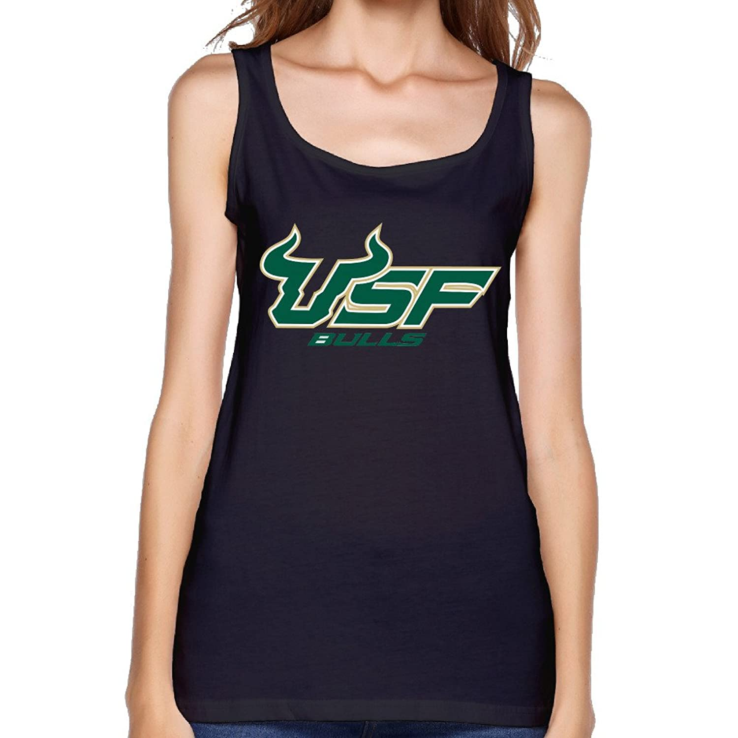 University Of South Florida Usf Logo Ladies Tank Top Muscle Shirt