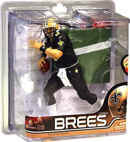 McFarlane Toys NFL Sports Picks Series 28 Action Figure Drew Brees (New Orleans Saints) All Black Uniform AllStar Collector Level Chase by McFarlane Toys