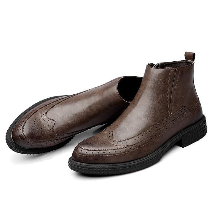 Otoño E Invierno Hombres Botas Botas Martin Inglaterra High-top Zapatos De Hombre Vintage Botas Chelsea Botas De Hombre: Amazon.es: Ropa y accesorios