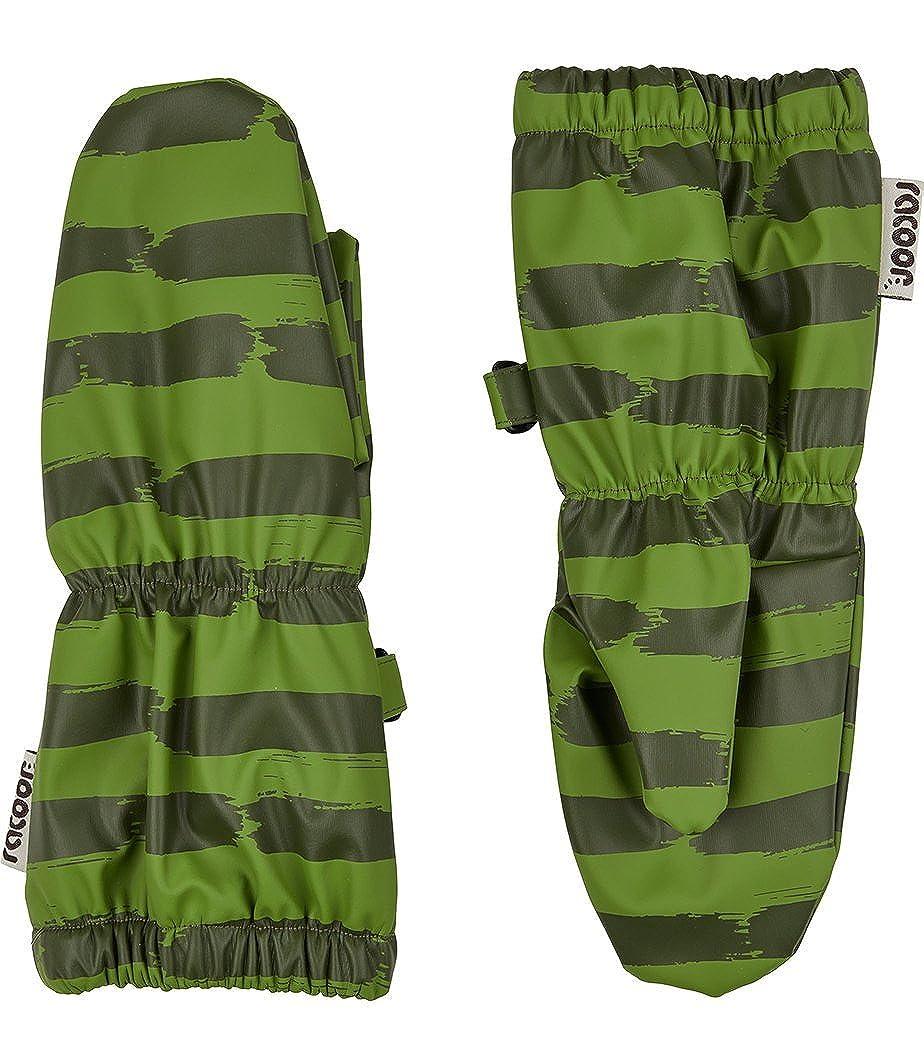 Racoon Baby-Jungen Fäustlinge Willum rain Fleece Mittens, Grün Green for, S (Herstellergröße: 00-02) R1038-0813
