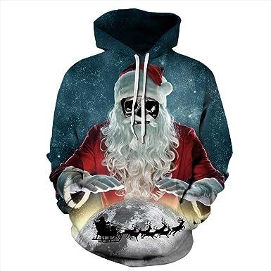 67816dcab3bcf AIMEE7 Sweats à Capuche Homme Sweat Couple Noël Unisexe Christmas Grande  Taille Sweat-Shirts Nouveauté