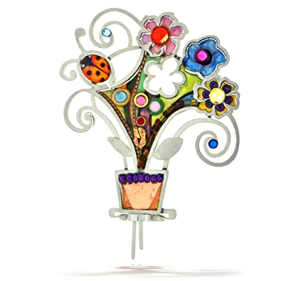 The Artazia Collection Seeka Flower Pot Garden Pin P0282