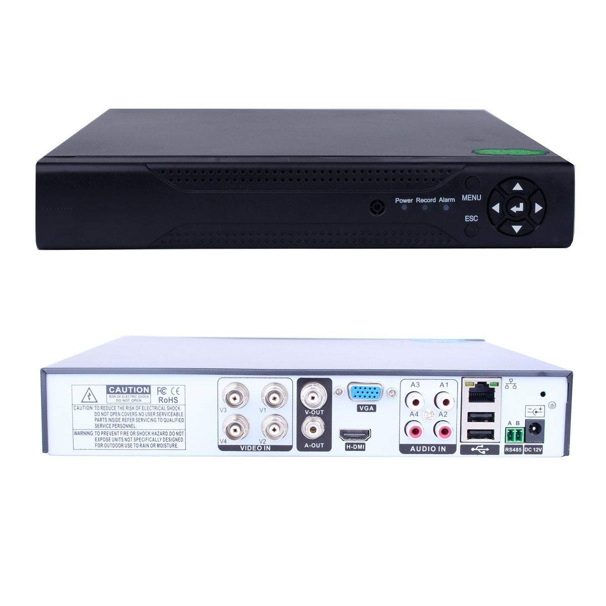 【今日の超目玉】 FidgetGear 6in1 4CH H.264 HDMI DVR/NVR/AHD/TVI/CVI/XVI IP Security CCTV Camera DVR Recorde   B07Q9M3WYD, ファーストコンタクト 445bb219