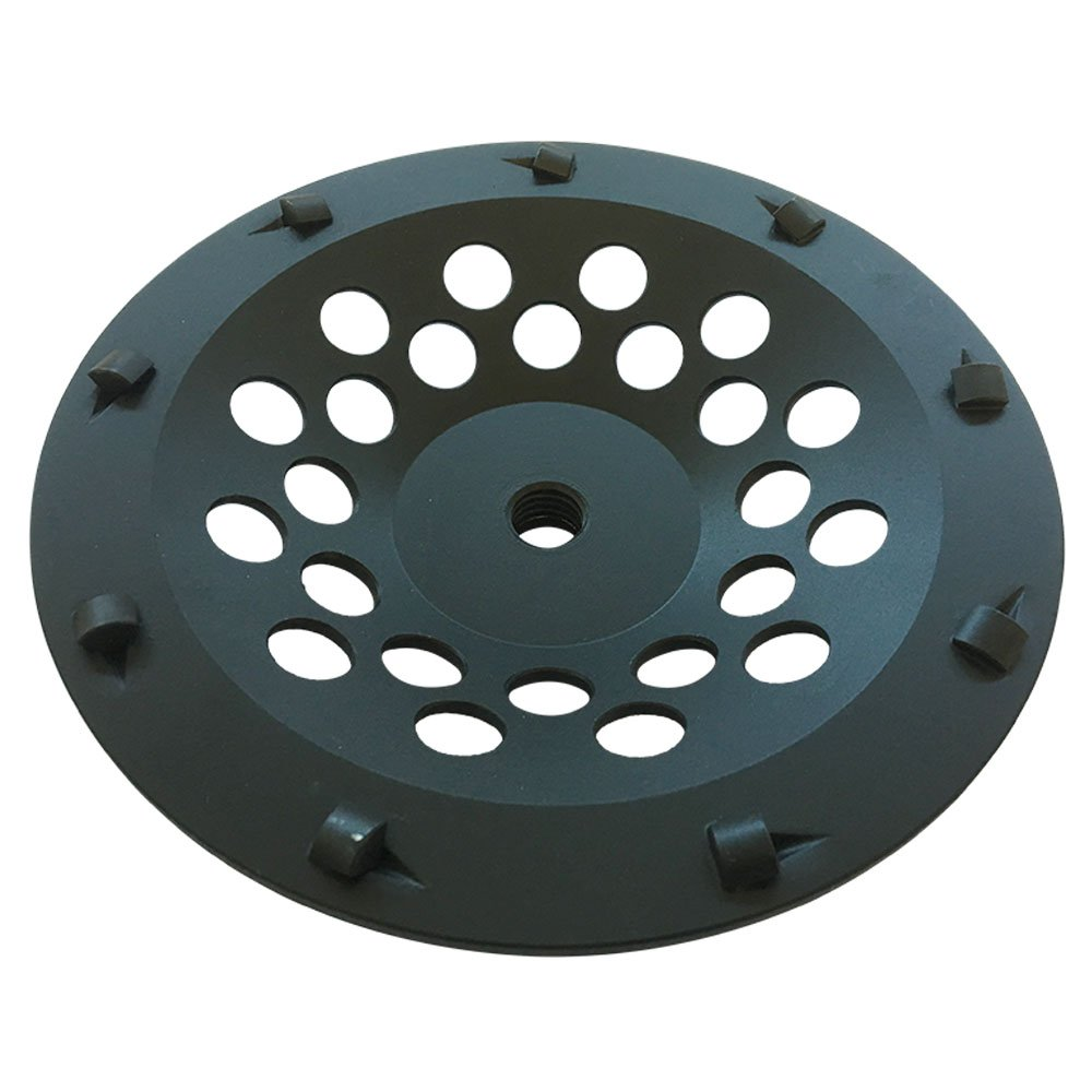 PCD Grinding Wheel for Removing Epoxy, Glue, Mastic, and Paint 7'' Diameter 9 Segments