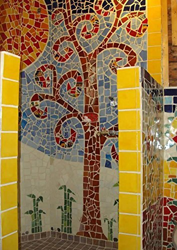 10 Pounds of Broken Talavera Mexican Ceramic Tile in Mixed Solid Colors