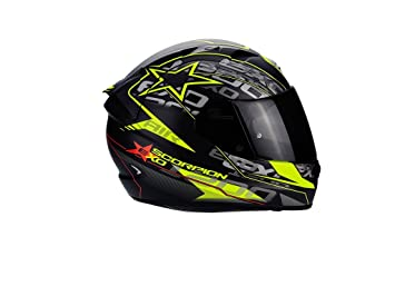 Scorpion - Casco para moto Exo-1200 Air Solis, color negro mate/amarillo