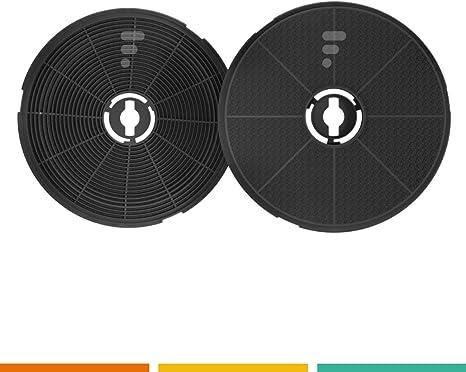FC17 – 2 filtros de carbón activo para campana, diámetro 180 - 190 mm, para campanas Refsta con filtros de carbón K25: Amazon.es: Grandes electrodomésticos
