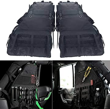 Confezione da 2 sacchetti portaoggetti con tasche multiple per Jeep Wrangler JK