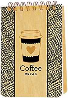 product image for Night Owl Paper Goods Coffee Break Mini Jotter Notepad with Real Wood Covers
