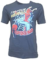 Spiderman Men's Blue T-Shirt I'm Your Hero