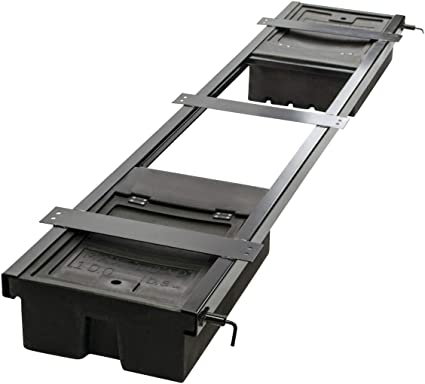 Lippert 236558 RV Double Box Under Chassis Storage Unit Black