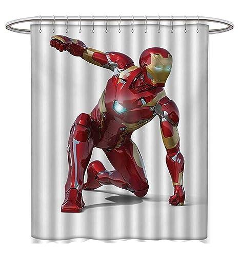 Anhuthree Superhero - Cortinas de ducha con impresión digital 3D ...