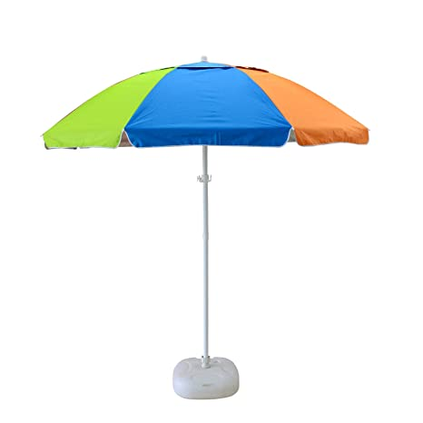 Amazon Com Caymus 7 Ft Rainbow Color Camping Beach Patio Umbrella