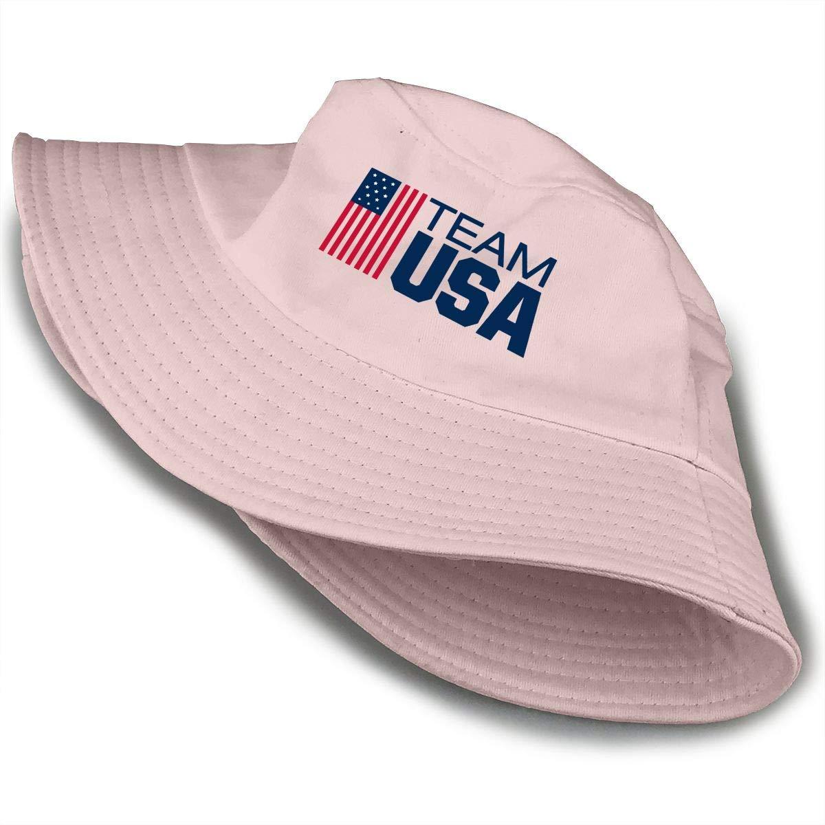 PPAN Team USA Boxing Unisex Cotton Packable Black Travel Bucket Hat Fishing Cap