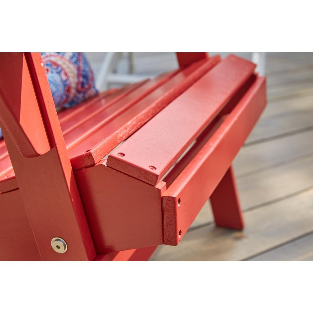 2-Pack Outdoor Folding Adirondack Chair, Hampton Bay, Adirondack Chair, Patio Chair, Wood Outdoor Furniture, Outdoor Chair, Patio Folding Chair (Choose Your Color) (Chili Red) by Hampton Bay Patio (Image #4)