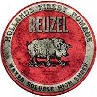 Reuzel - Red Water Soluble High Sheen Pomade For Men - Medium Hold - Made With Oils For Extra Shine & Control - Non…