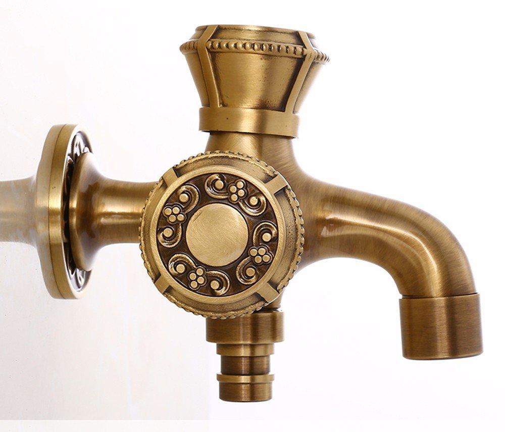 Hlluya Wasserhahn Wasserhahn Wasserhahn für Waschbecken Küche Dick Waschmaschöne Einem kalten Balkon Mops 7 Tippen Sie auf 6e731c