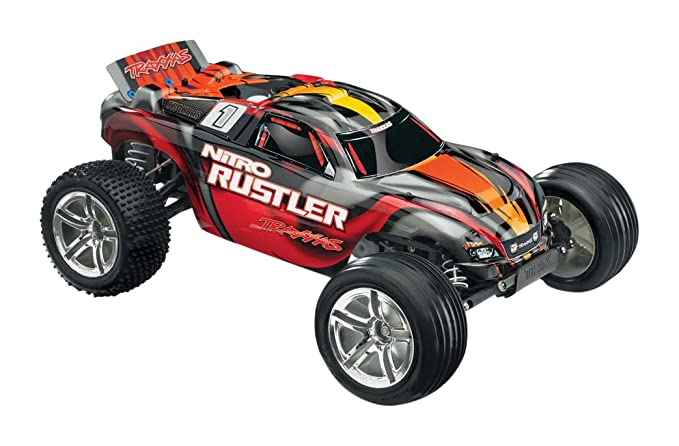 Traxxas 44096 3 1 10 Nitro Rustler 2WD With TSM Vehicle