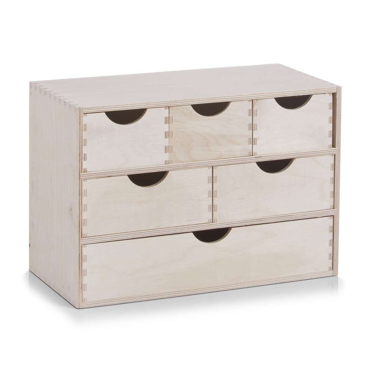 Zeller 13193 Drawer Unit of 6 Drawers Birch 40 x 20 x 28 cm