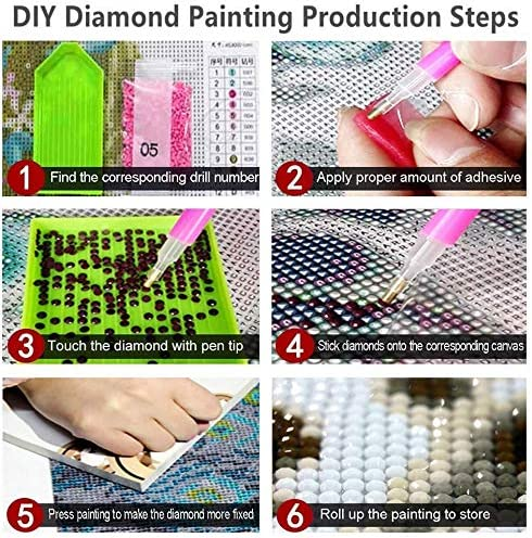 crafts artwork DIY 5D diamond painting kit used for home wall decoration the size is 12 * 16 inches. canvas