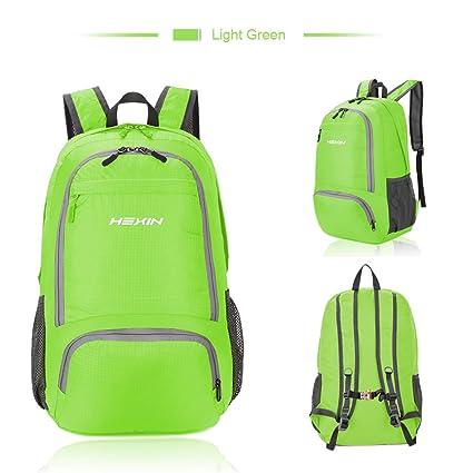 68e94c481254 Amazon.com  HEXIN Hiking Daypack 25L Foldable Lightweight Backpack for  Men Women  HEXIN INC